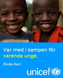Jag stöder unicef i kampen för varenda unge.