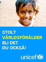 Jag är stolt Världförälder hos UNICEF, bli det du också.